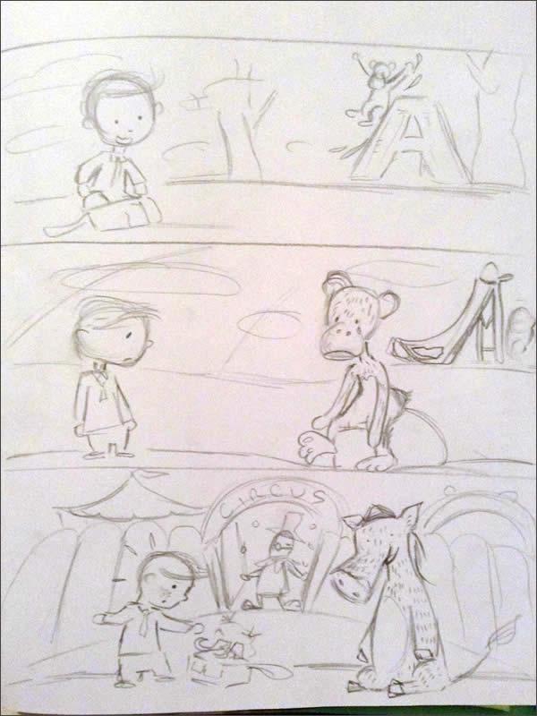 childrens book mock up illustrations